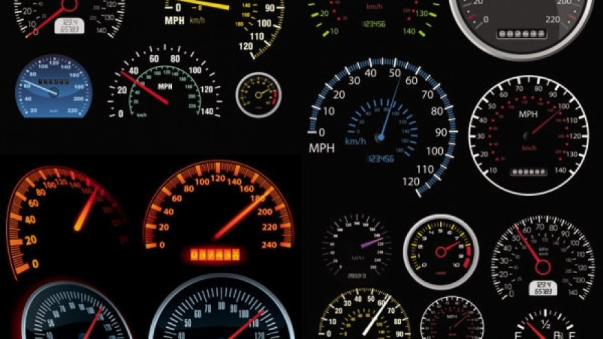The Difference between an Odometer & a Speedometer