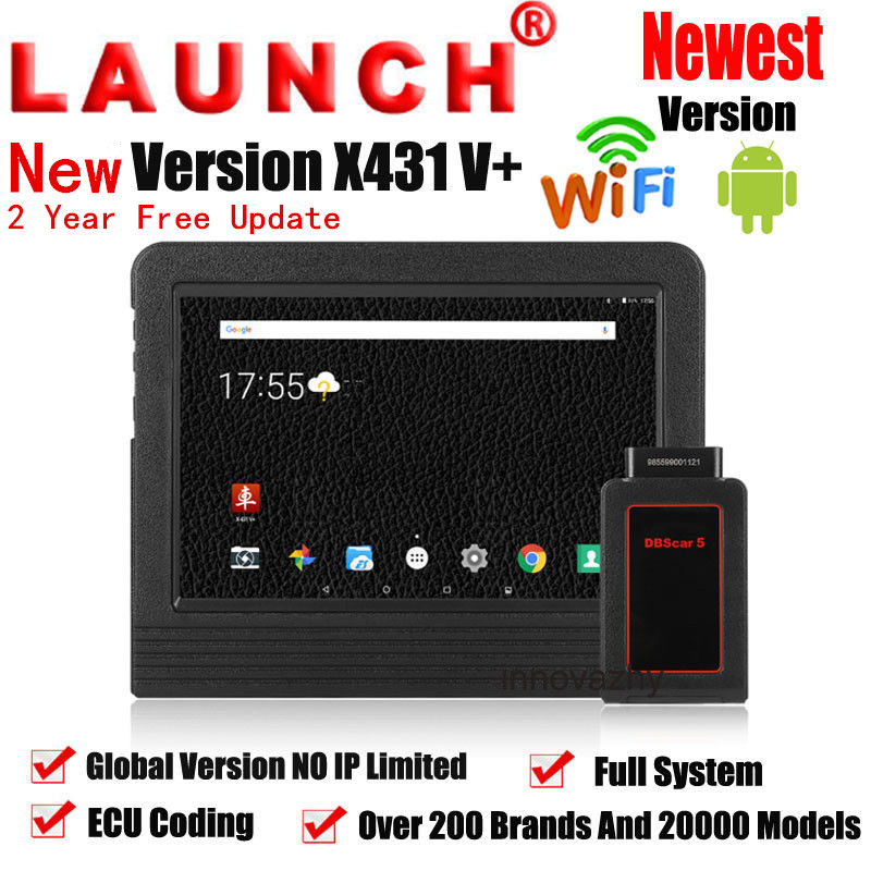 Launch X431 V+ comprehensive scanner device with 2 year free